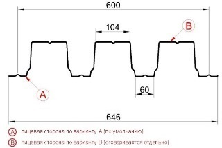Профнастил Н114-600