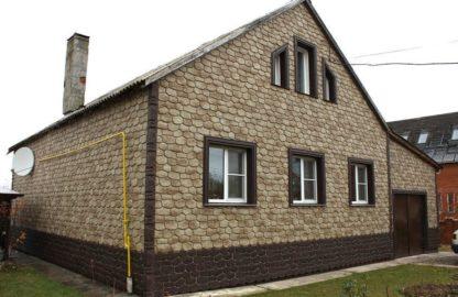 Фасадная панель бытовой камень