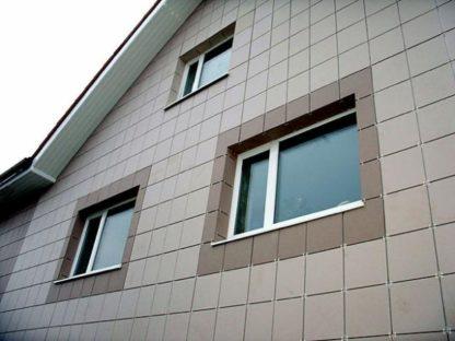 Облицовка фасада керамогранитом