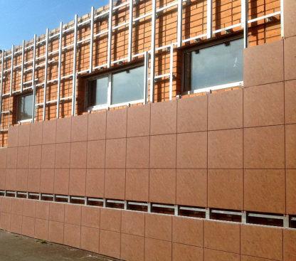 Монтаж фасадов с покрытием из керамогранита